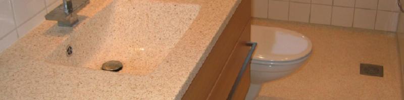 Håndvask i terrazzo