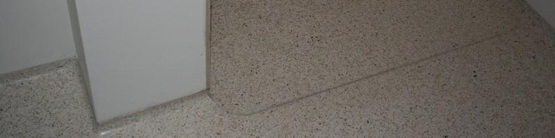 Terrazzo på gulvet