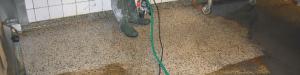 En terrazzo slibning samt polering af terrazzogulv frsiker gulvet op