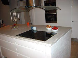 En terrazzo bordplade pynter op i ethvert køkken