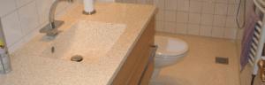 Terrazzo håndvask der passer til køkkenet eller badeværelset
